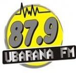 Logo da emissora Rádio Ubarana 87.9 FM