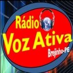 Logo da emissora Rádio Voz Ativa 87.9 FM