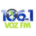 Logo da emissora Rádio Voz 106.1 FM