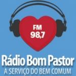 Logo da emissora Rádio Bom Pastor 98.7 FM