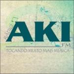 Logo da emissora Rádio Aki FM