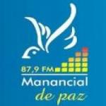 Logo da emissora Rádio Manancial de Paz 87.9 FM
