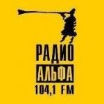 Logo da emissora Alfa 104.1 FM
