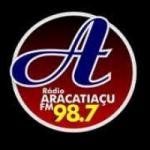 Logo da emissora R�dio Aracatia�u 98.7 FM
