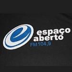 Logo da emissora Rádio Espaço Aberto 104.9 FM