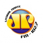 Logo da emissora Rádio Jovem Pan 102.7 FM