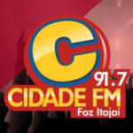 Logo da emissora Rádio Cidade Foz Itajaí 91.7 FM