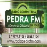Logo da emissora Rádio Pedra 104.9 FM
