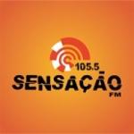 Logo da emissora Rádio Sensação 105.5 FM