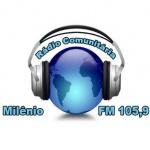 Logo da emissora R�dio Comunit�ria Mil�nio 105.9 FM
