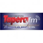 Logo da emissora Rádio Tapera 87.5 FM
