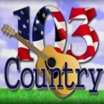 Logo da emissora WGDN 103.1 FM Country