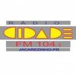 Logo da emissora Rádio Cidade FM 104.9 FM