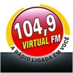 Logo da emissora Rádio Virtual 104.9 FM