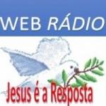 Logo da emissora Rádio Jesus é a Resposta