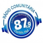 Logo da emissora Rádio Cortês 87.9 FM