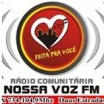 Logo da emissora Rádio Nossa Voz 104.9 FM