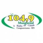 Logo da emissora Rádio Manguezal 104.9 FM