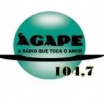 Logo da emissora Rádio Ágape 104.7 FM