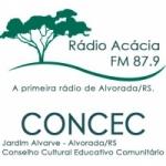 Logo da emissora R�dio Ac�cia 87.9 FM