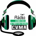 Logo da emissora R�dio Evag�lica pentecostal  Como Voz de Muitas �guas