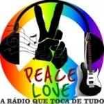 Logo da emissora Peace Love do Rock ao MPB