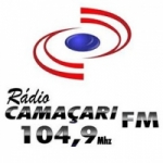 Logo da emissora R�dio Cama�ari 104.9 FM