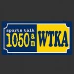 Logo da emissora WTKA 1050 AM