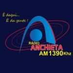 Logo da emissora Rádio Anchieta 1390 AM