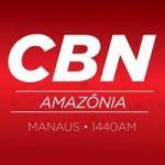 Logo da emissora Rádio CBN Amazônia Guajará-Mirim 93.7  FM