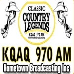 Logo da emissora KQAQ 970 AM