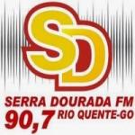 Logo da emissora Rádio Serra Dourada 90.7 FM