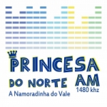 Logo da emissora Rádio Princesa do Norte 1480 AM
