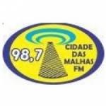 Logo da emissora Rádio Cidade das Malhas 98.7 FM