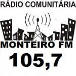 Logo da emissora Rádio Monteiro FM