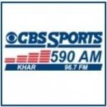 Logo da emissora KHAR 590 AM 96.7 FM