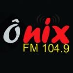 Logo da emissora Rádio Ônix 104.9 FM