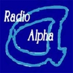 Logo da emissora Rádio Alpha
