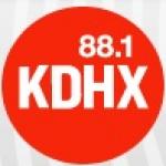 Logo da emissora Radio KDHX 88.1 FM