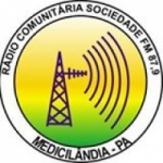 Logo da emissora Rádio Sociedade 87.9 FM