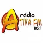 Logo da emissora Rádio Ativa 105.9 FM