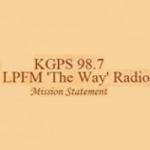 Logo da emissora KGPS 98.7 FM