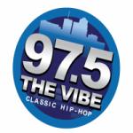 Logo da emissora KSZR 97.5 FM THE VIBE