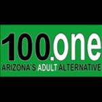 Logo da emissora KVNA-FM 100.1