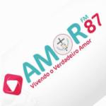 Logo da emissora Rádio Amor 87.5 FM