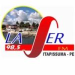 Logo da emissora Rádio Laser 98.5 FM