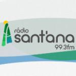 Logo da emissora Rádio Santana 99.3 FM