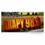 Logo da emissora Radio Arapy 98.1 FM