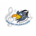 Logo da emissora R�dio Manac�a