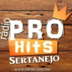 Logo da emissora Rádio Pro Hits Sertanejo